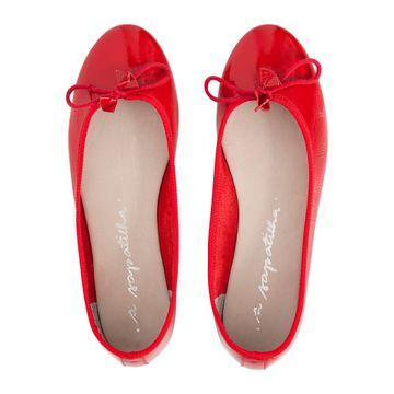 Sapatilha-Bailarina-Vermelho-Verniz